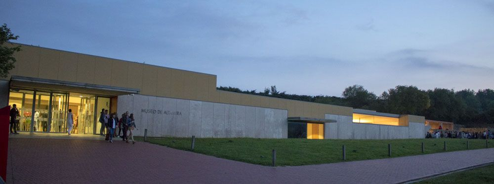Vista general del exterior del museo de Altamira