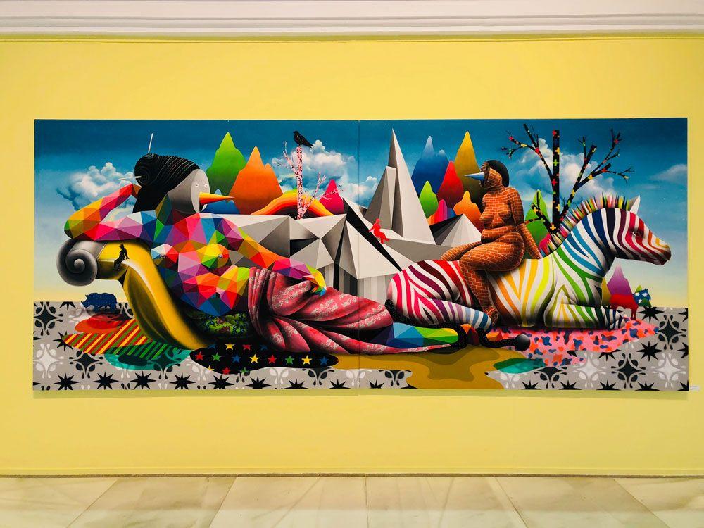 Detalle obra Okuda exposición del palacete del embarcadero