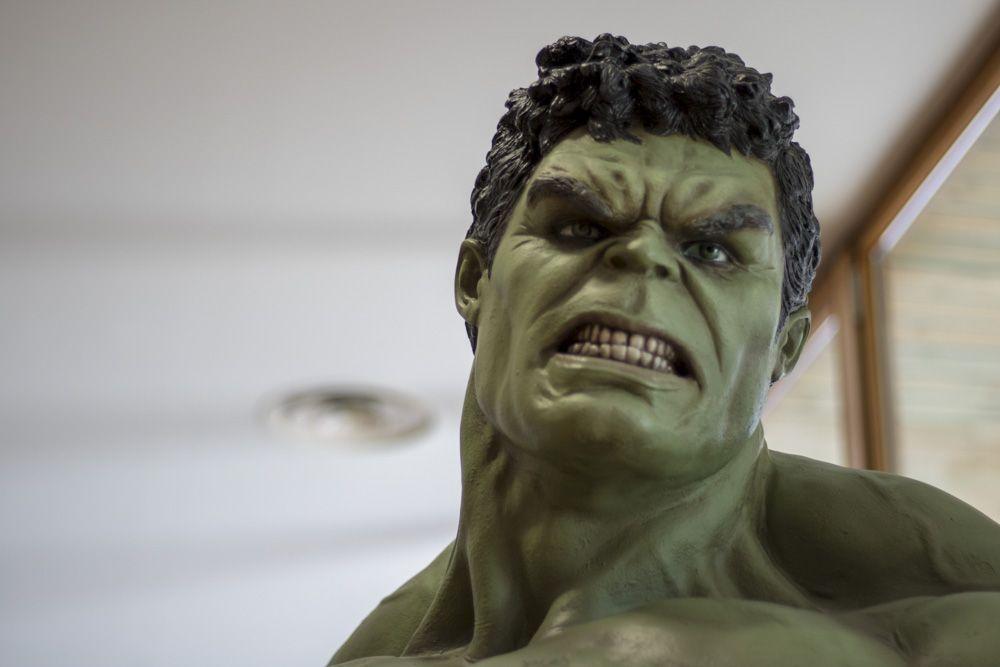 Detalle de Hulk a escala real