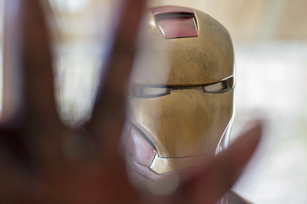 Detalle de Figura de Ironman a escala real