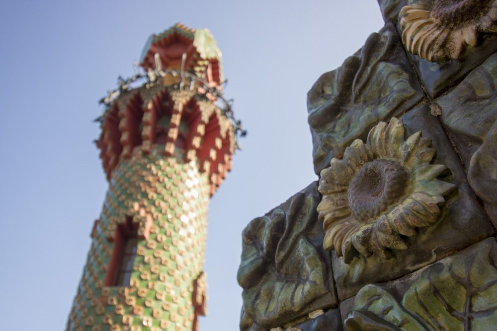 Vista detalle Capricho de Gaudí