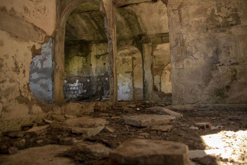 Interior del edifico donde vivian los presos Republicanos