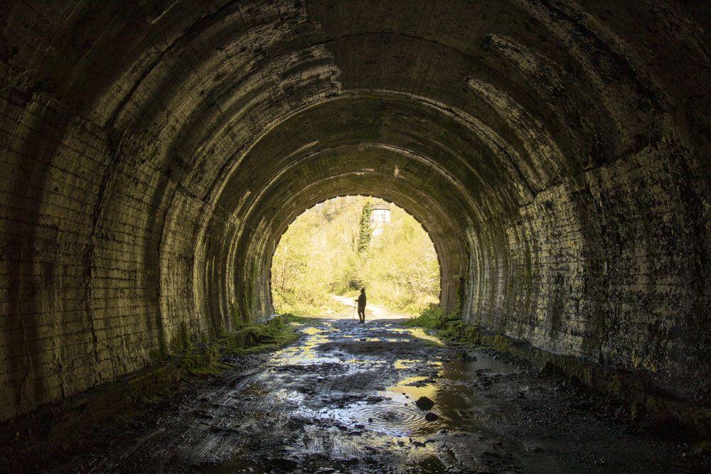 Vista del interior de uno de los túneles