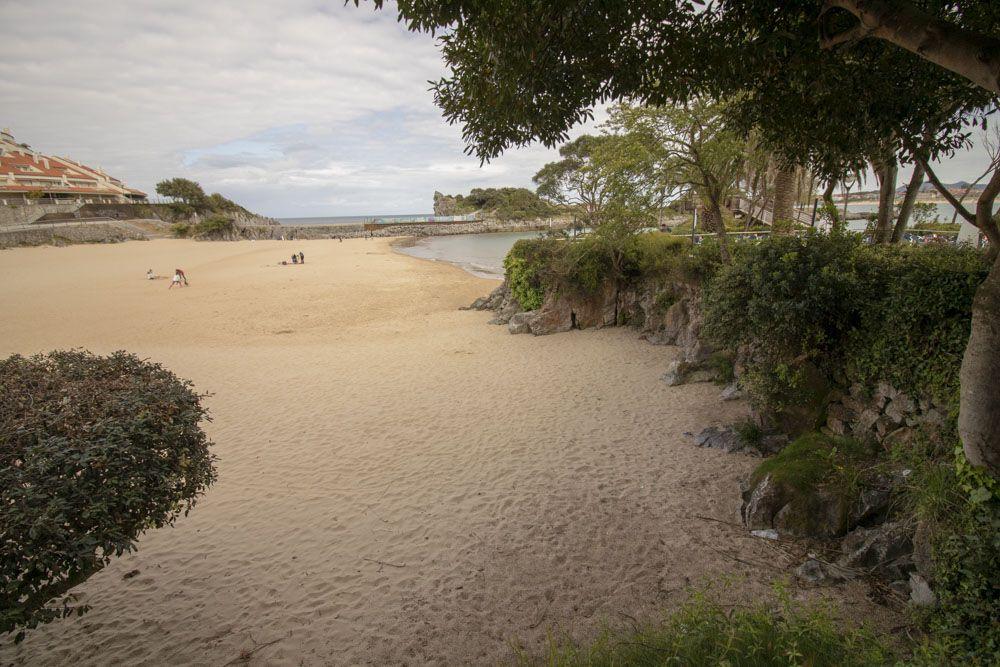 detalle de la playa